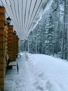 Motel Gora Krestovaya during the winter