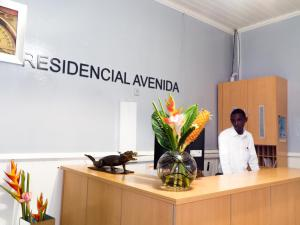 The lobby or reception area at Hotel Residencial Avenida