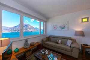 Ein Sitzbereich in der Unterkunft Vista Paradiso