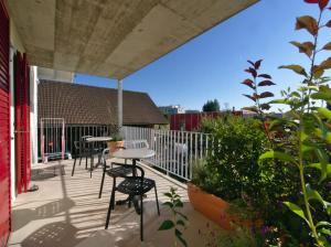 Ein Balkon oder eine Terrasse in der Unterkunft B&B perron13