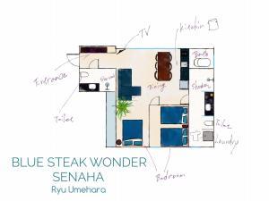 BLUE STEAK WONDER YOMITAN Ocean Sideの見取り図または間取り図