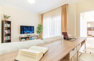 Zona de estar de Luxury 3 bedroom apartment with sea view solarium