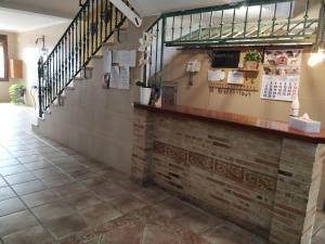 The lobby or reception area at Hostal Los Escudos