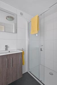Een badkamer bij Vakantiepark de Boomgaard