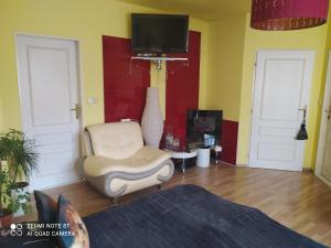 TV a/nebo společenská místnost v ubytování Ubytování U Minoritů
