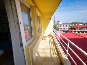 Un balcon sau o terasă la Hotel Berlin