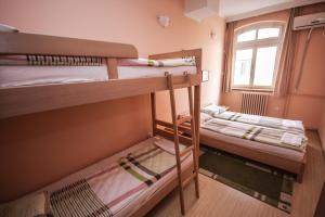 A bunk bed or bunk beds in a room at Hostel Terasa