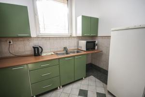A kitchen or kitchenette at Hostel Terasa