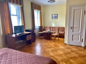 Гостиная зона в Отель Усадьба Державина