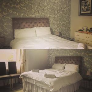 A bed or beds in a room at Colintraive Hotel