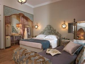 Letto o letti in una camera di Ville Sull'Arno