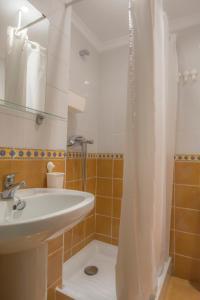 A bathroom at PENSIÓN ISBEL