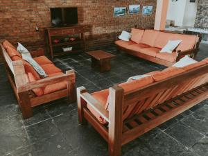 A seating area at Pousada do Preto