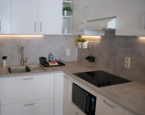 A kitchen or kitchenette at Sea Side