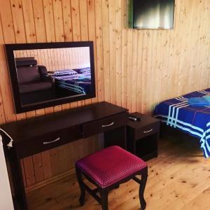 Телевизор и/или развлекательный центр в Домики в Сочи для отдыха Bungalow Volkonka City