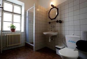 Koupelna v ubytování Pension Alfa & Whisky Pub