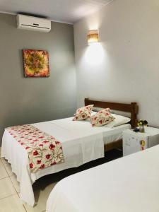 Cama o camas de una habitación en Templários EcoVilla