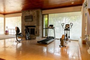 The fitness center and/or fitness facilities at Las Mañanitas