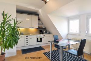 Küche/Küchenzeile in der Unterkunft Domizil Domblick Speyer City, OHNE Testpflicht