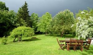 A garden outside La Cascade de Hauterive