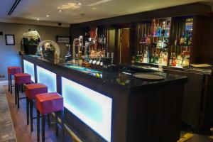 The lounge or bar area at Crowne Plaza Liverpool - John Lennon Airport, an IHG Hotel