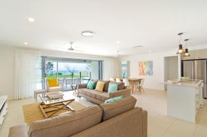 A seating area at Sentosa on Tugun - Beachfront 5 Bedroom