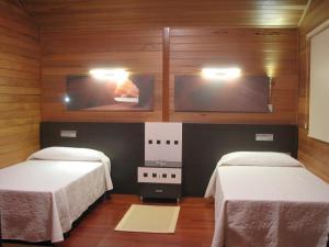Cama o camas de una habitación en Complejo La Cigüeña
