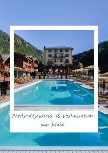 The swimming pool at or near BestWestern Plus Excelsior Chamonix Hôtel