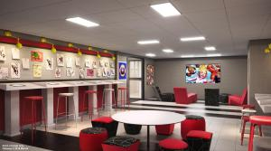 The lounge or bar area at Disney's Hotel New York® - The Art of Marvel