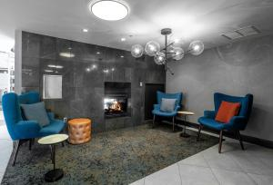 A seating area at State House Inn