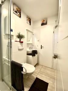 Ein Badezimmer in der Unterkunft Ferienhäuser Pannier III und IV Doppelhaushälften