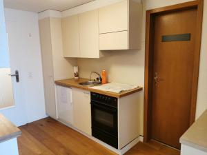 Küche/Küchenzeile in der Unterkunft Ferienwohnung und B&B Chasa Janett