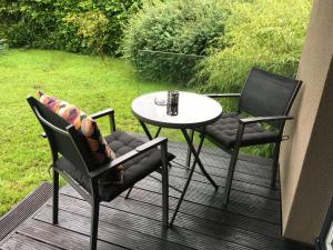 Ein Sitzbereich in der Unterkunft Kal's Studio Apartment Salzburg
