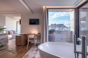 A bathroom at niche Hotel Athens