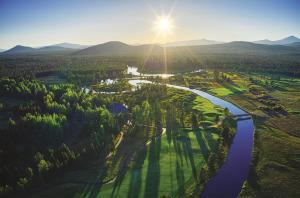A bird's-eye view of Sunriver Resort