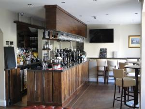 The lounge or bar area at The Maypole at Wellow