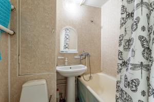 Ванная комната в Economy Brusnika Apartment Kuzminki