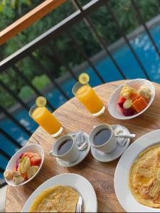 Breakfast options available to guests at Gek House Ubud Bali