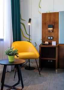Ein Sitzbereich in der Unterkunft Mercure Antwerp City Centre