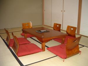 A seating area at Sapporo International Youth Hostel