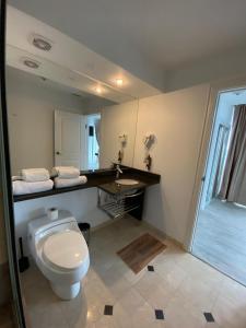 A bathroom at Hotel Zimbru Snagov