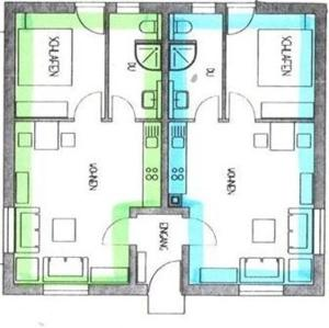 Grundriss der Unterkunft Apartments Talblick