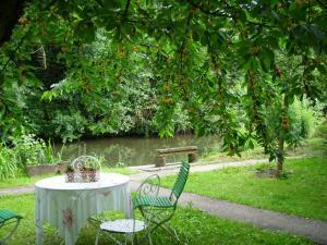 A garden outside Le Jardin de l'Ill