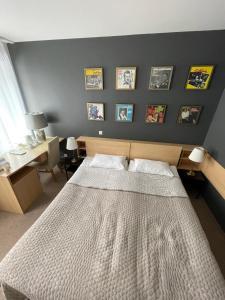 Cama o camas de una habitación en Jazz Hotel Navalis, Tubinas Hotels