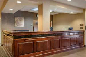 The lobby or reception area at Comfort Suites Downtown Carlisle