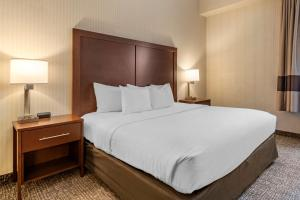 A bed or beds in a room at Comfort Suites Downtown Carlisle