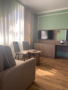 Гостиная зона в Отель Черноморская