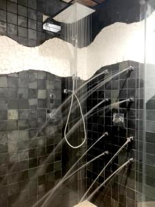 A bathroom at Complejo Turístico La Garganta