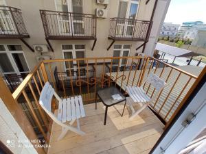A balcony or terrace at Vavilon