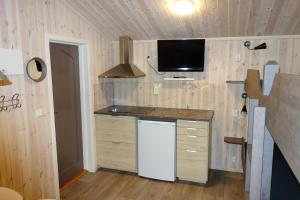 Kjøkken eller kjøkkenkrok på Roste Hyttetun og Camping